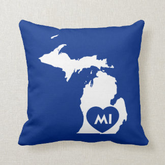 "I Love Michigan State Throw Pillow 16"" x 16"""