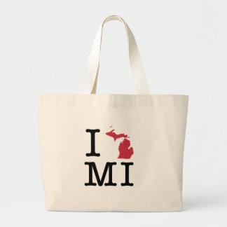 I Love Michigan Jumbo Tote Bag