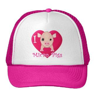 I Love Micro Pigs Cap