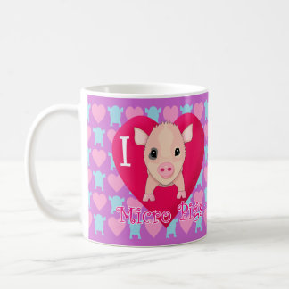 I Love Micro Pigs Coffee Mug