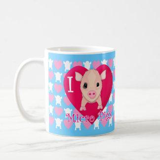 I Love Micro Pigs Coffee Mug