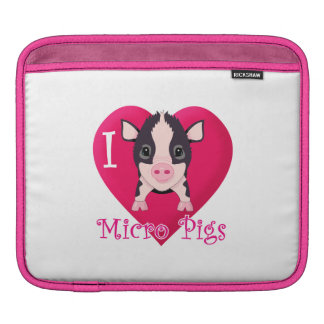 I love Micro Pigs iPad Sleeve