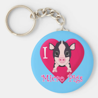 I Love Micro Pigs Key Ring
