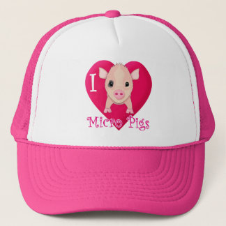 I Love Micro Pigs Trucker Hat