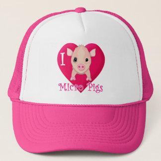 I Love Micro Pigs Trucker Hat