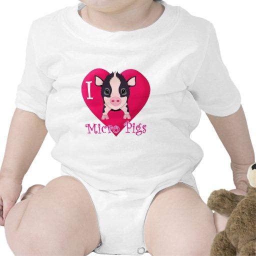 I Love Micro Pigs Tshirt