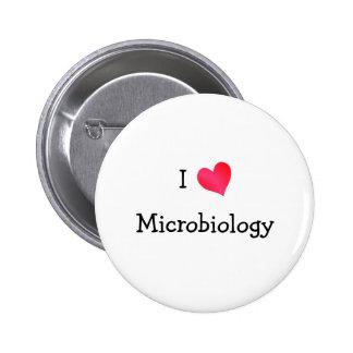 I Love Microbiology 6 Cm Round Badge