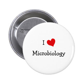 I Love Microbiology 6 Cm Round Badge