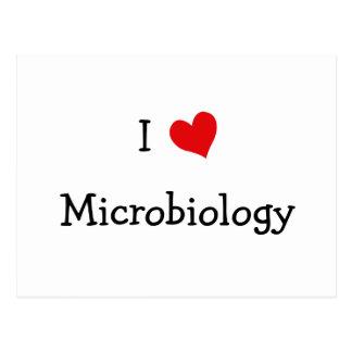 I Love Microbiology Postcard