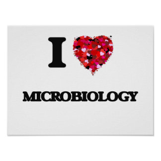 I Love Microbiology Poster
