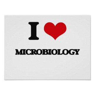 I Love Microbiology Posters