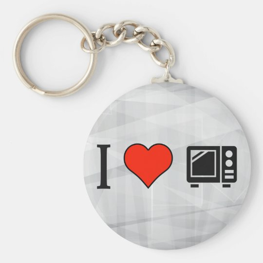I Love Microwave Ovens Key Ring