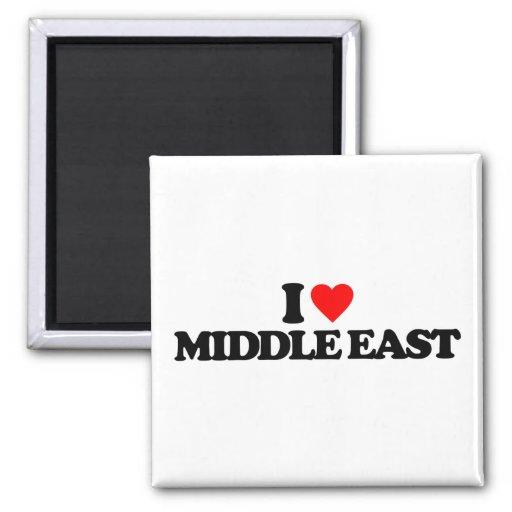 I LOVE MIDDLE EAST REFRIGERATOR MAGNET