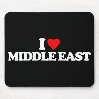 I LOVE MIDDLE EAST MOUSE PADS