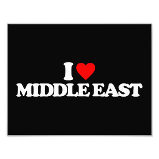 I LOVE MIDDLE EAST PHOTOGRAPHIC PRINT