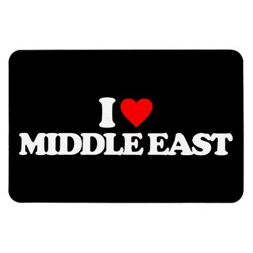 I LOVE MIDDLE EAST RECTANGULAR MAGNET