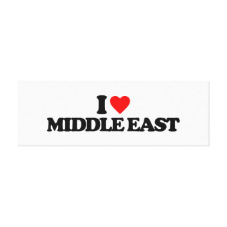 I LOVE MIDDLE EAST STRETCHED CANVAS PRINT