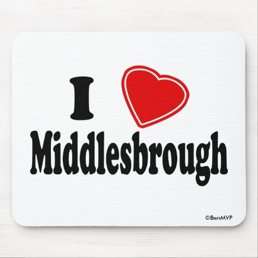 I Love Middlesbrough Mouse Pads