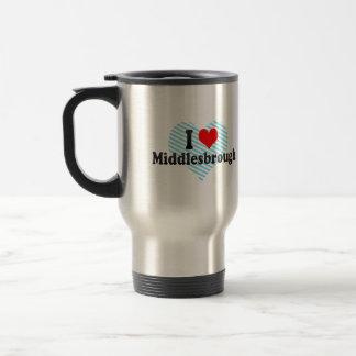 I Love Middlesbrough, United Kingdom Stainless Steel Travel Mug