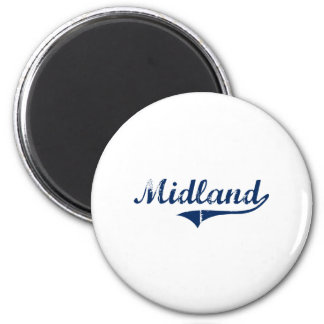 I Love Midland Michigan 6 Cm Round Magnet