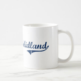 I Love Midland Michigan Basic White Mug