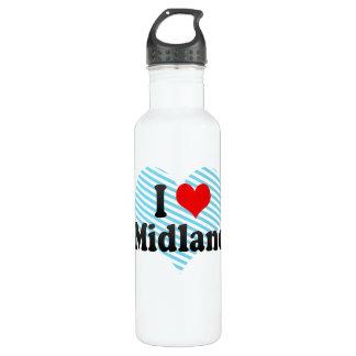 I Love Midland, United States 710 Ml Water Bottle