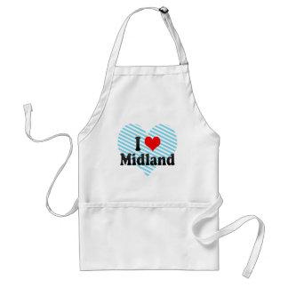 I Love Midland United States Apron