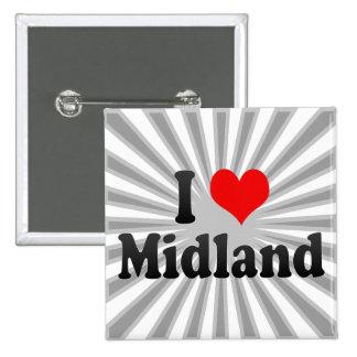 I Love Midland, United States Button