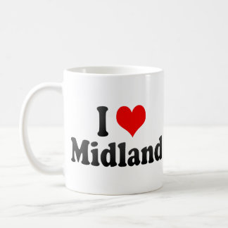 I Love Midland, United States Basic White Mug
