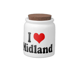 I Love Midland United States Candy Dishes