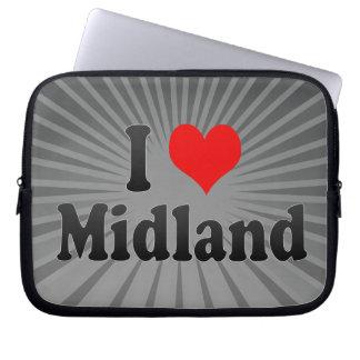 I Love Midland United States Computer Sleeves