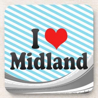 I Love Midland, United States Beverage Coaster
