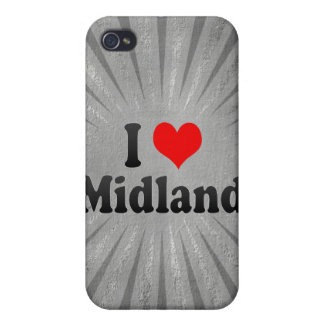 I Love Midland United States Cover For iPhone 4