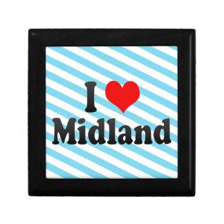 I Love Midland United States Keepsake Boxes