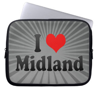 I Love Midland, United States Laptop Computer Sleeves