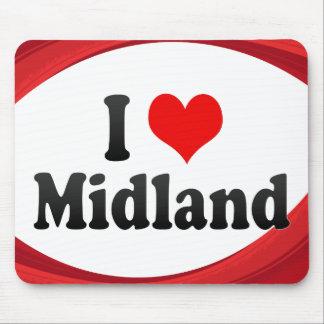 I Love Midland United States Mousepad