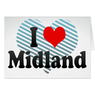 I Love Midland, United States Note Card