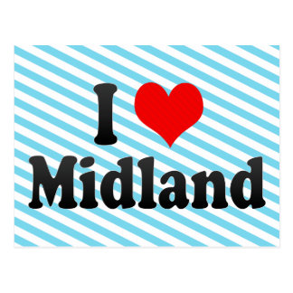 I Love Midland United States Post Cards