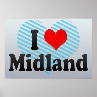 I Love Midland United States Posters