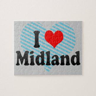 I Love Midland United States Puzzle