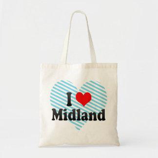 I Love Midland, United States Canvas Bag