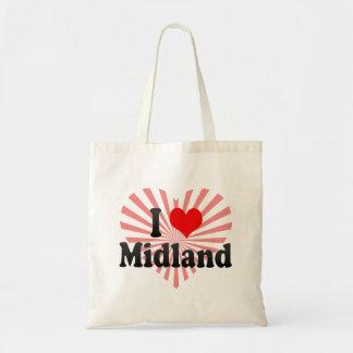 I Love Midland United States Tote Bag