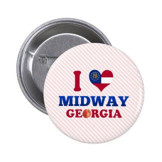 I Love Midway, Georgia Pin
