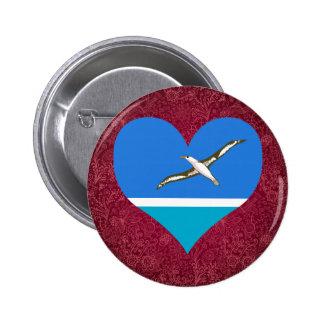 I Love Midway+Islands 6 Cm Round Badge