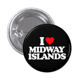 I LOVE MIDWAY ISLANDS PIN
