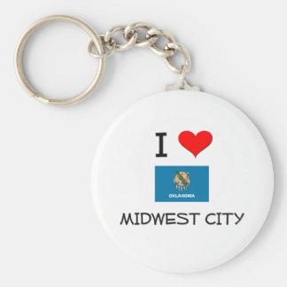 I Love Midwest City Oklahoma Keychain
