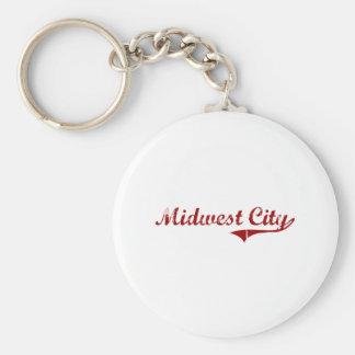 I Love Midwest City Oklahoma Keychains