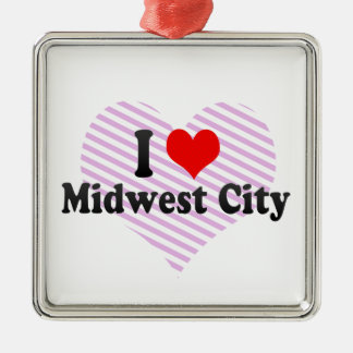 I Love Midwest City, United States Christmas Ornament