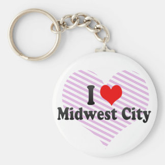 I Love Midwest City United States Key Chains