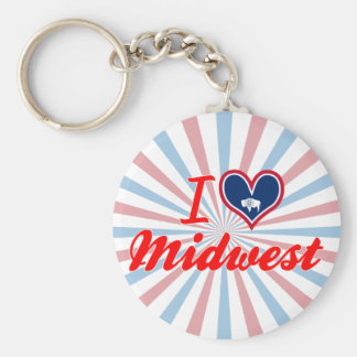 I Love Midwest Wyoming Key Chains